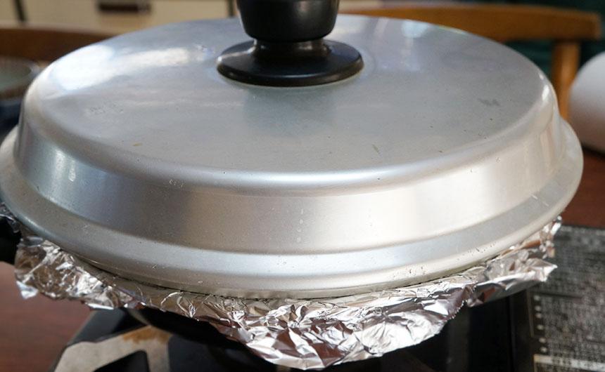 中華鍋で燻製