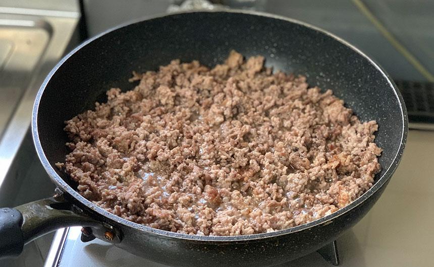 ひき肉 燻製