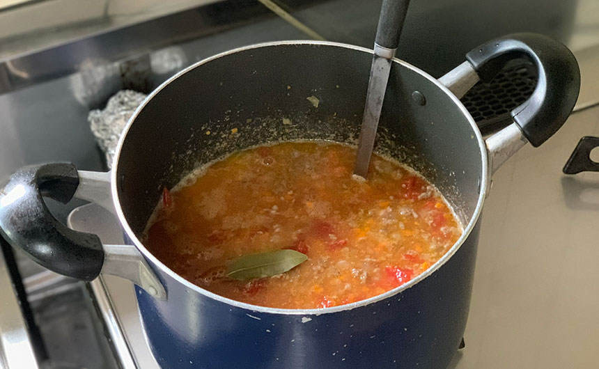 燻製ミートスパゲティ