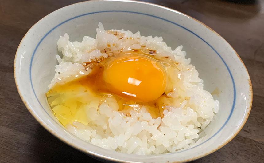 燻製醤油卵かけご飯