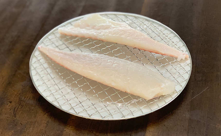 真鯛の刺身 乾燥処理