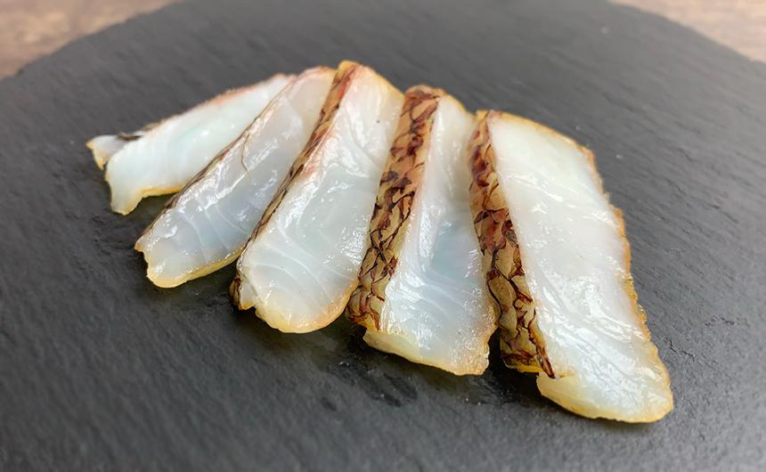 真鯛の刺身の燻製