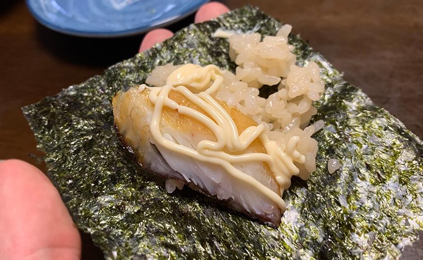 燻製真鯛 手巻き寿司
